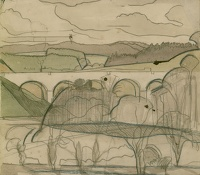 Landscape with viaduct, circa 1925