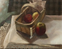 Artist Gilbert Spencer: Apples in a Basket circa 1913