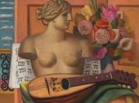Paintings by the artist Mark Gertler