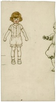 Artist Evelyn Dunbar: Small girl