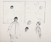 Artist Evelyn Dunbar: Preliminary sketches for Joseph's Dream