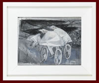 Cyclists framed, circa 1948