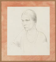 Artist Winifred Knights: Self Portrait, circa 1920