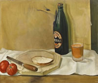 Still life with bottle of Ale