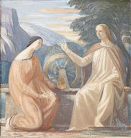 Christ  meeting the woman of Samaria...
