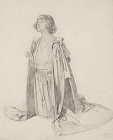 Kneeling Figure of Woman - a Study...