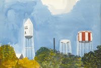 Artist Kenneth Rowntree: Water Towers, Georgia, 1959
