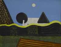 Artist Kenneth Rowntree: Abstract Landscape, Acomb, 1975