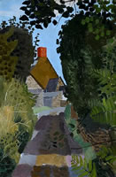 Artist Kenneth Rowntree: An Essex Lane, 1940s