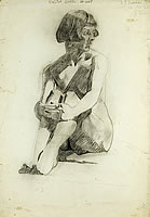 Study of seated nude  , 12 October 1926