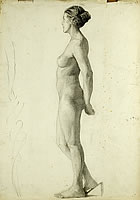 Profile study of nude standing