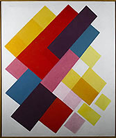 Colours on white II, circa 1960