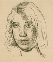Portrait of a young girl, circa 1925