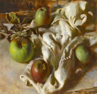 Still Life with Apples on a White Cloth