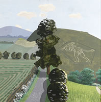 Artist Kenneth Rowntree: The Cerne Abbas Giant, Dorset